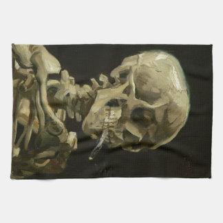 Kopf eines Skeletts Handtuch
