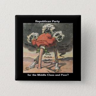 Kopf im Sand-Republikaner-Party Quadratischer Button 5,1 Cm