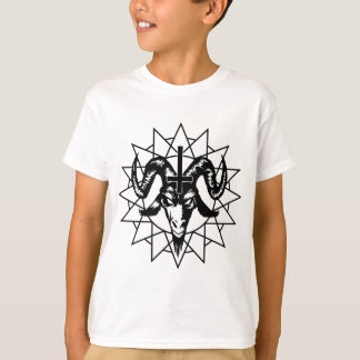 Kopf mit Chaos-Stern (Schwarzes) T-Shirt