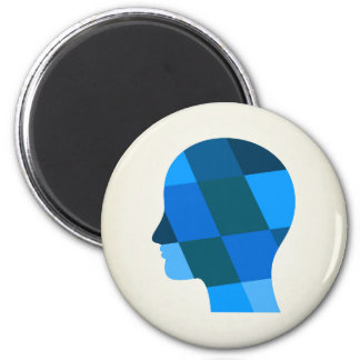 Kopf Runder Magnet 5,7 Cm