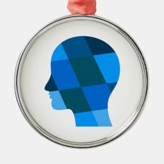 Kopf Silbernes Ornament