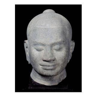 Kopf von Art König-Jayavarman VII Bayon Postkarte