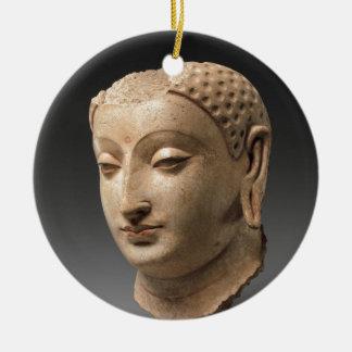 Kopf von Buddha - 5.-. Jahrhundert Rundes Keramik Ornament