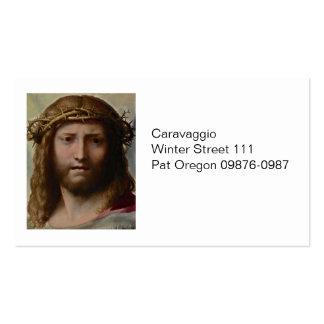 Kopf von Christus Correggio Visitenkarten
