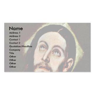 Kopf von Christus durch Greco EL Visitenkarten Vorlage