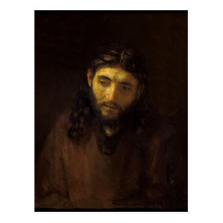 Kopf-von-Christus-Rembrandt Harmensz van Rijn Postkarte