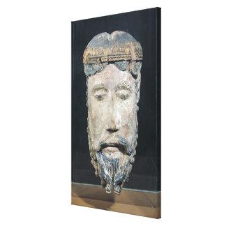 Kopf von Christus, von Lavaudieu Leinwand Druck