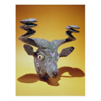 Kopf von einem Stier, vom Irak, c.2000 BC Postkarte