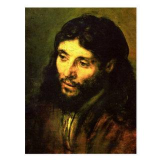 Kopf von Jesus durch Rembrandt Postkarte