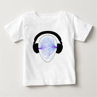 Kopfhörer blaues purpurrotes schwarzes tschirt baby t-shirt