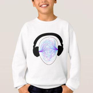 Kopfhörer blaues purpurrotes schwarzes tschirt sweatshirt