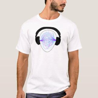 Kopfhörer blaues purpurrotes schwarzes tschirt T-Shirt