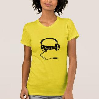 Kopfhörer-Kopfhörer-Audiowellen-Motiv: Breakbeat T-Shirt
