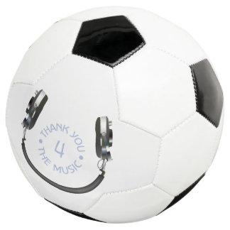 Kopfhörer-Lächeln Fußball