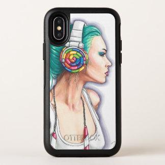 Kopfhörer-Mädchen-Punkmädchen iPhone X Fall OtterBox Symmetry iPhone X Hülle