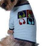 Kopfhörer-Pop-Kunst Hunde T Shirt