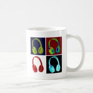 Kopfhörer-Pop-Kunst Kaffeetasse