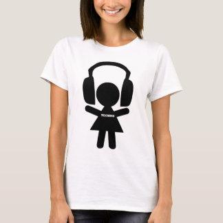 Kopfhörer Techno Musik T-Shirt