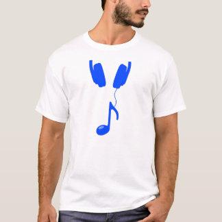 Kopfhörer und Anmerkung T-Shirt
