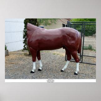 Kopfloses Pferd, Carson City, Nevada Poster