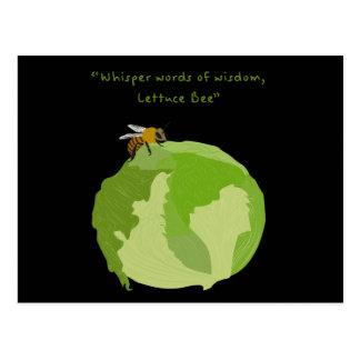 Kopfsalat-Biene Postkarte