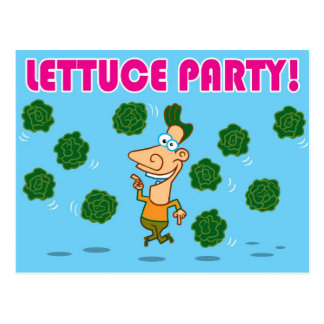 Kopfsalat-Party! Postkarte