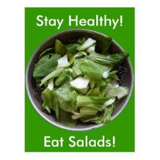 Kopfsalat-Salat Postkarte