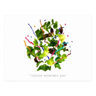 Kopfsalat unterhalten Sie - Dunkelheit Postkarte