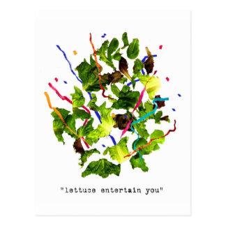 Kopfsalat unterhalten Sie - Licht Postkarte