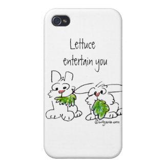 Kopfsalat unterhalten u-Cartoon-Kaninchen iPhone 4 Cover