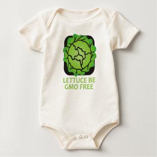Kopfsalat wird wir ist Bio Logo-Baby GVO FREI Baby Strampler