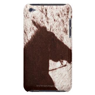 Kopfschatten des Reitpferds auf Hinterboden Jaspis iPod Touch Hüllen