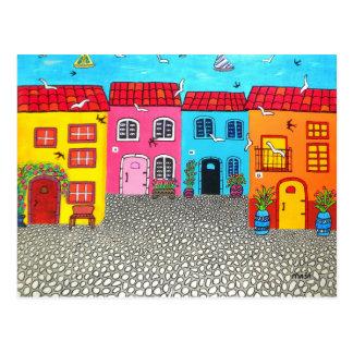 Kopfstein-Straßen von Sardinien Postkarte