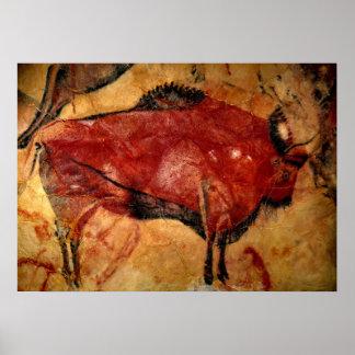 Kopie der Bison-Höhlenmalerei Poster