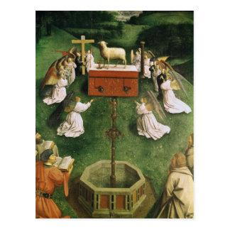 Kopie der Verehrung des mystischen Lamms Postkarte
