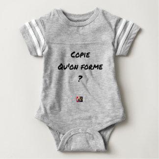 KOPIE, DIE MAN BILDET? - Wortspiele Baby Strampler