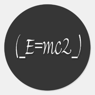 Kopie (_E=mc2_) Runder Aufkleber