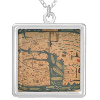 Kopie eines Beatus mappamundi des 8. Jahrhunderts Versilberte Kette