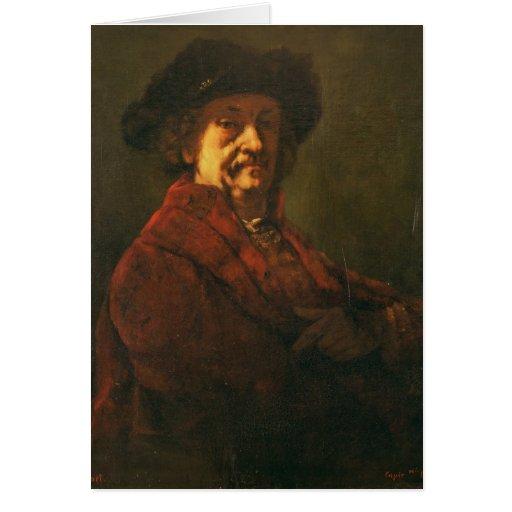 Kopie eines Rembrandt-Selbstporträts, 1869 Karte