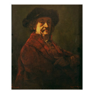 Kopie eines Rembrandt-Selbstporträts, 1869 Poster