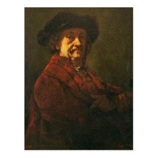 Kopie eines Rembrandt-Selbstporträts, 1869 Postkarte