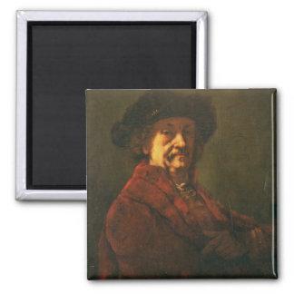 Kopie eines Rembrandt-Selbstporträts, 1869 Quadratischer Magnet