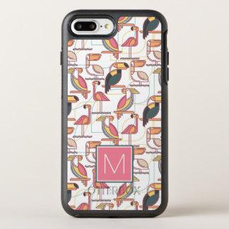 Kopieren Sie mit tropischen Vögeln, die | Ihre OtterBox Symmetry iPhone 8 Plus/7 Plus Hülle