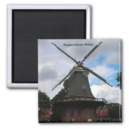 Kopperhörner Mühle / Wilhelmshaven / Deutschland Quadratischer Magnet