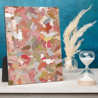 Koralle bördelt Farben-Spritzer 5050 Fotoplatte