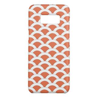 Koralle und Weiß ausgebogtes Muschel-Muster Case-Mate Samsung Galaxy S8 Hülle