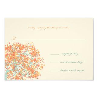 Koralle verlässt AQUA Baum-Hochzeits-Einladung Karte