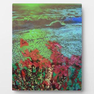 Korallen und Blumen Fotoplatte