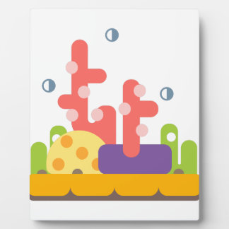 Korallenriff-Primitiv-Art Fotoplatte