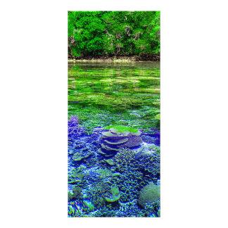 Korallenriff-tropische Küstenlinie Werbekarte